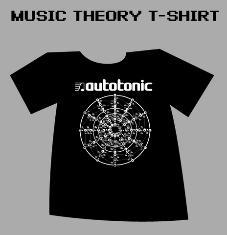 AutoTonic FREE Music Theory Merch T-Shirt Circle of Fifths
