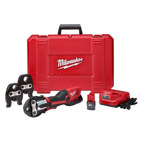 "Milwaukee 2473-22 M12 FORCE LOGIC Press Tool Kit, 1/2"" - 1"" Jaws"