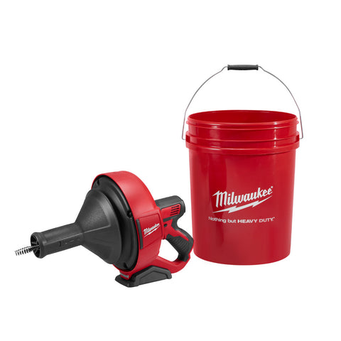 "Milwaukee 2571-20 M12 Drain Snake with 5/16"" x 25' Bulb Cable and Storage Bucket (Bare)"