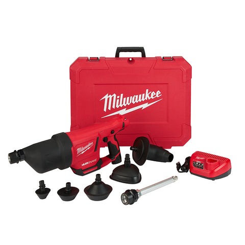 "Milwaukee 2572B-21 M12 AIRSNAKE Drain Cleaning Air Gun Kit-B, 1"" - 4"" Capacity"