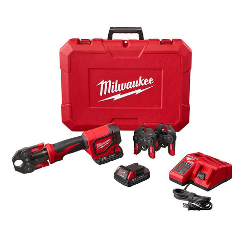 "Milwaukee 2674-22C M18 Short Throw Press Tool Kit with 1/2"" - 1"" PEX Crimp Jaws"