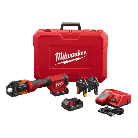 "Milwaukee 2674-22P M18 Short Throw Press Tool Kit with 1/2"" - 1"" Viega PureFlow Jaws"