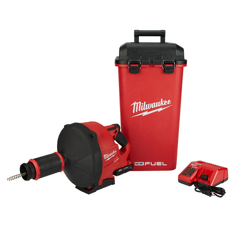 Milwaukee  2772A-21 M18 Fuel Drain Snake Drain Cleaner with Cable-Drive Kit-A