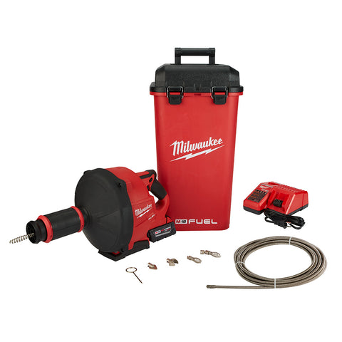 Milwaukee  2772B-21XC M18 Fuel Drain Snake Drain Cleaner with Cable-Drive Kit-B