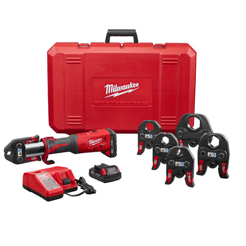 "Milwaukee 2773-22 M18 FORCE LOGIC Press Tool Kit, 1/2"" - 2"" Jaws"