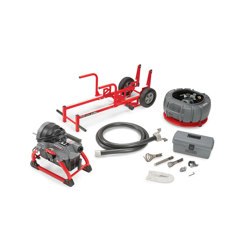 RIDGID 64678 K-5208 115V 60Hz w/C-11 Cable Carrier and Transport Cart