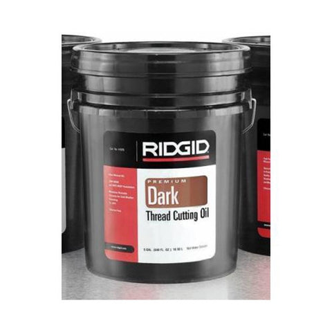 RIDGID 41600 Low Odor Anti-Misting Dark Threading Oil, 5 Gallon