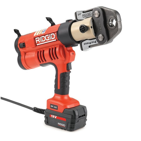 "Ridgid 43373 RP 340 Corded Press Tool Kit with ProPress Jaws (1/2""-2"")"