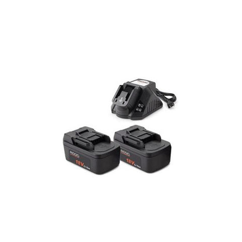 Ridgid 44853 Two 2.0Ah Batteries and Charger Kit