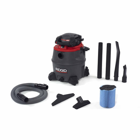 Ridgid 50343 1620RV 16 Gal Red Wet/Dry Vac with Blower