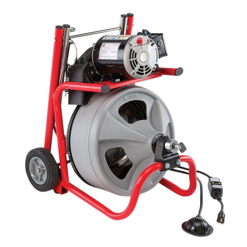 "RIDGID 52363 K400 Drain Cleaner Machine w/ 3/8"" x 75ft Cable"