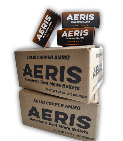 9mm 115gr. Aeris Copper Hollow-Points Bullets (Case of 250)