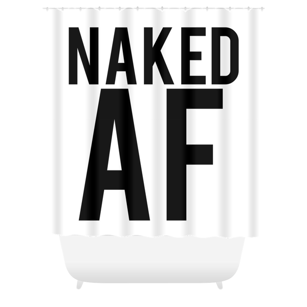 Naked AF Shower Curtain