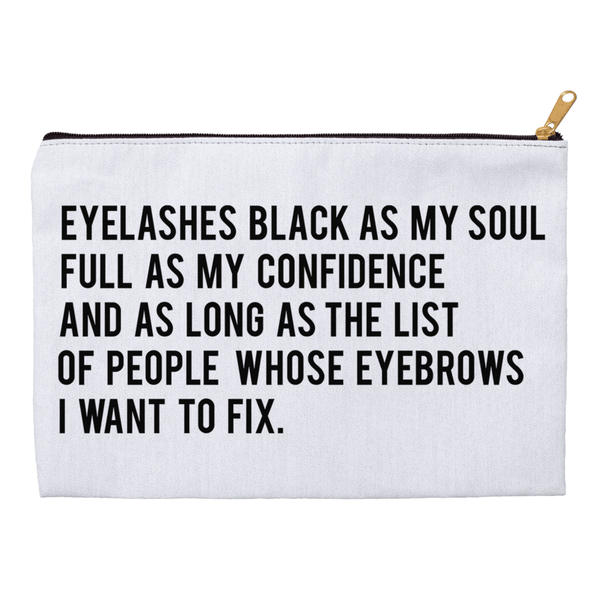 Eyelashes Black As My Soul Accessory Pouch