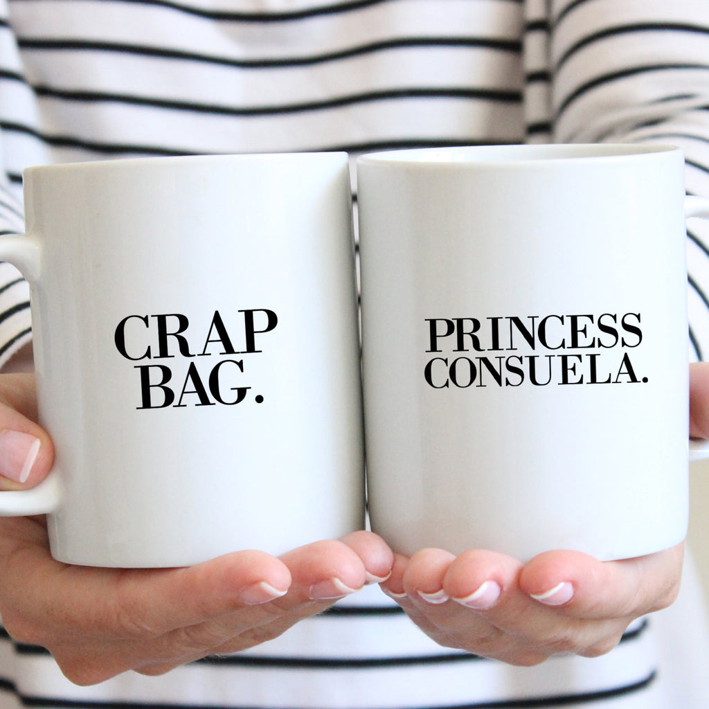 Crap Bag and Princess Consuela Simple Mugs