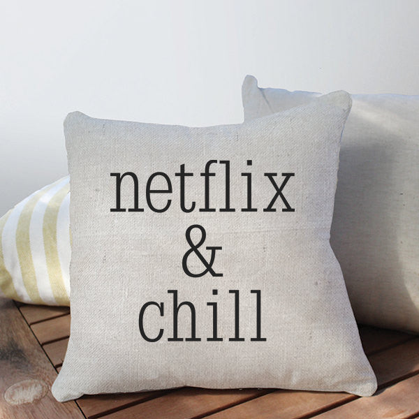 Netflix and Chill Throw Pillow Cover
