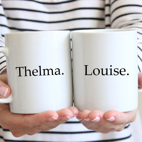 Thelma and Louise Matching Mug Set