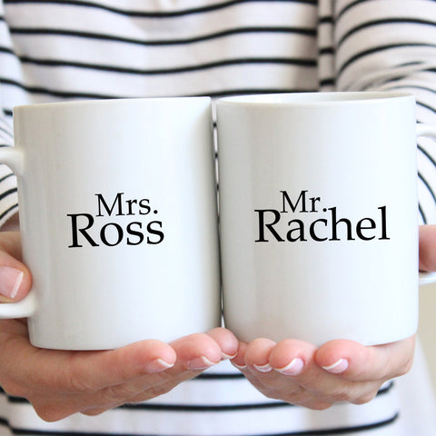 Mrs. Ross and Mr. Rachel Gift Set