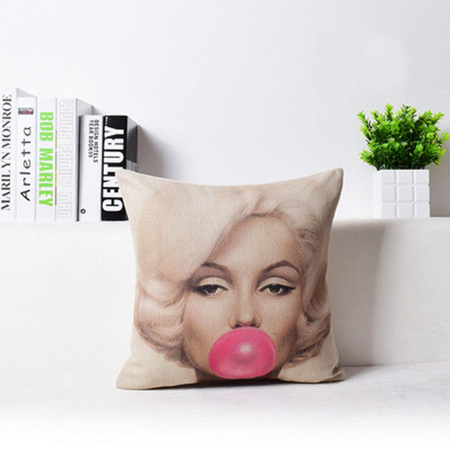Audrey & Marilyn Throw Pillow Covers