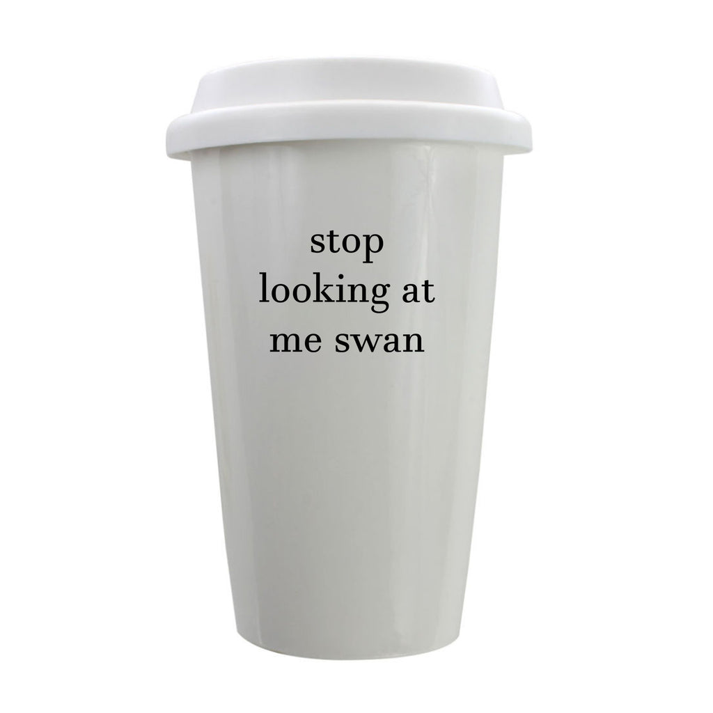 Stop Looking At Me Swan Porcelain Eco-Tumbler