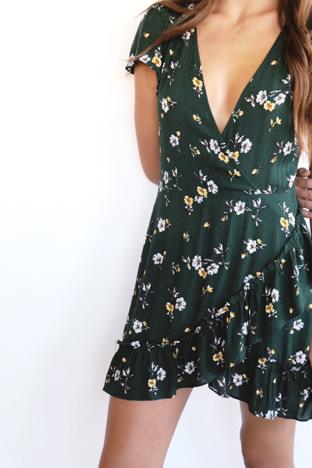 Zella Floral Wrap Dress