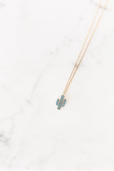 cactus chain necklace