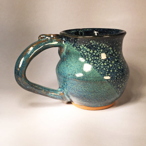 Delightful Blue Bubble Ceramic Mug (A)