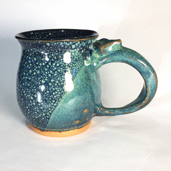 Delightful Blue Bubbles Ceramic Mug (B)