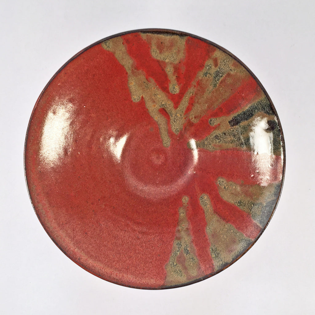 "Modern & Unique Ceramic Bowl ""Asymmetric Earth"" Stunning Pottery Using Glaze Layering"