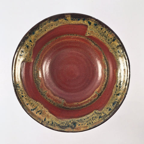 "UNIQUE Deep Ceramic Bowl ""Earth"" DRAMATIC GLAZE LAYERING! Great Bowl for Popcorn or Fruit!"