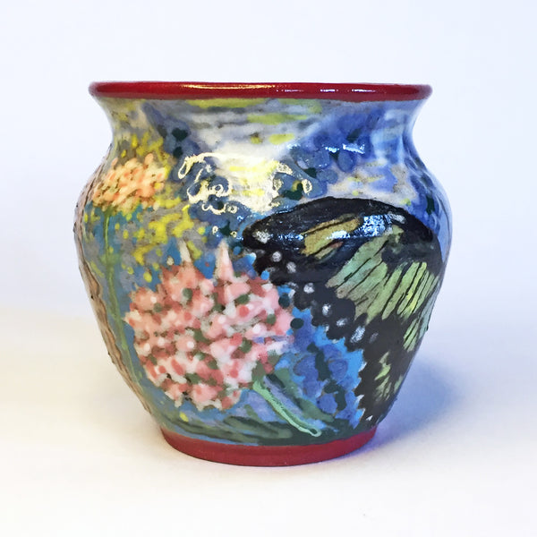 Perfect Gift for your Gardener! Hand-painted  Butterfly Teacups!