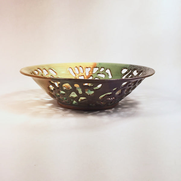"Carved Bowl ""Coral Reef"" Delicate Beauty in Color/Form/Visual Texture!"