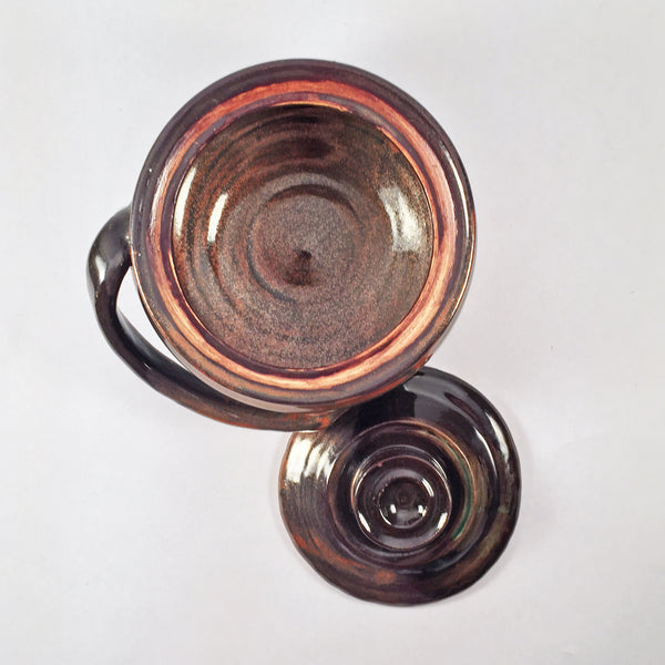 "Casserole ""Copper Penny"". Charming Unique Gift Idea! Elegantly Glossy!"