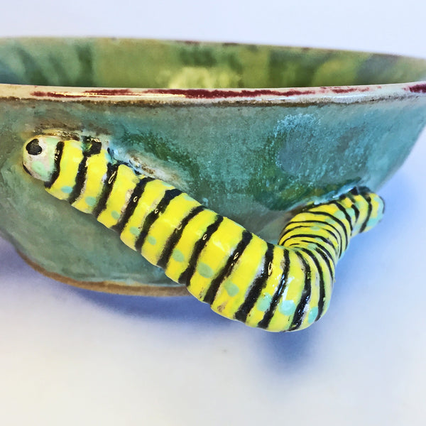 Fun Berry Bowl Colander with Caterpillar Handles! Eat your fruit!