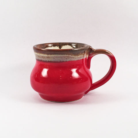 Glossy Red Ceramic Mug-Modern Handmade Pottery to Enjoy in Your Home!