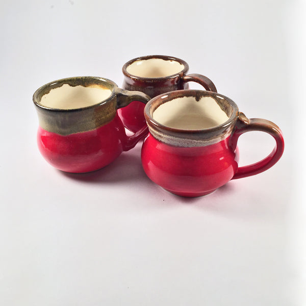 Set of 3 Glossy Red Mugs. Other Sets Available!