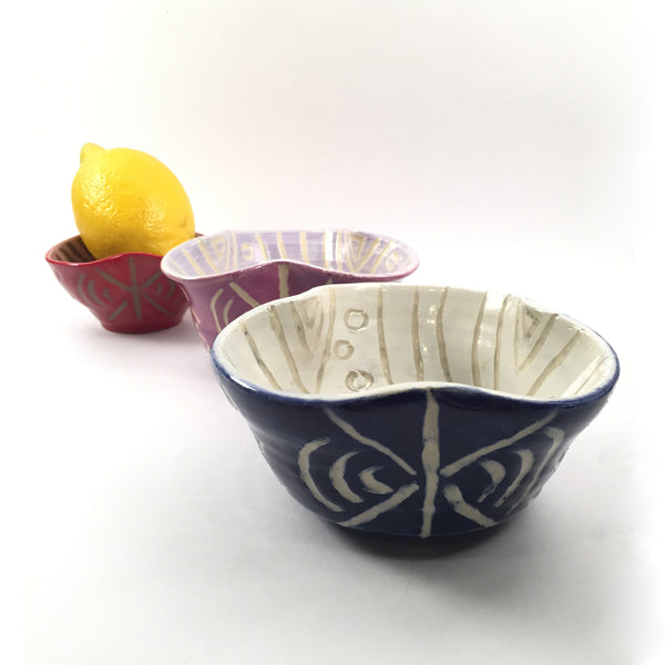 "Fun & Unique Bowl-Set of 3-""Clover Snack Bowls"" Great Gift For Home Chef/Desserts!"