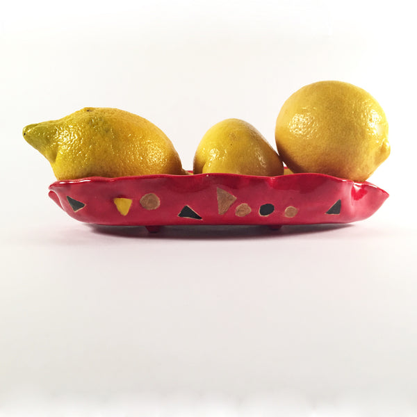 "Doodle Dish ""Red and Yellow"""