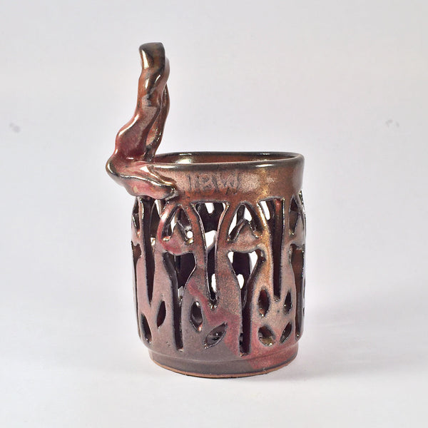 "Carved Mixed Use Cylinder ""Earthtones"" For Pens, Plasticware, Lollipops! Great Teacher's Gift!"