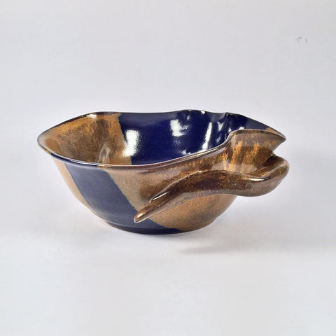 Unique Ceramic Bowl, Artist's Original Design! Exquisite Glaze Combo!