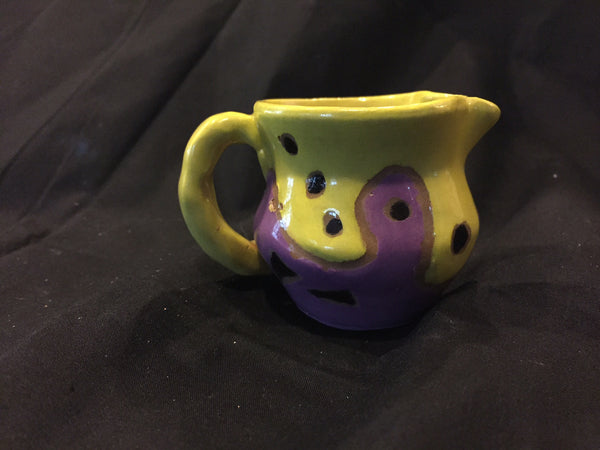 Mini Ceramic Pitcher-Functional Fun Colorful Pottery! See more of my Vibrant Pottery!