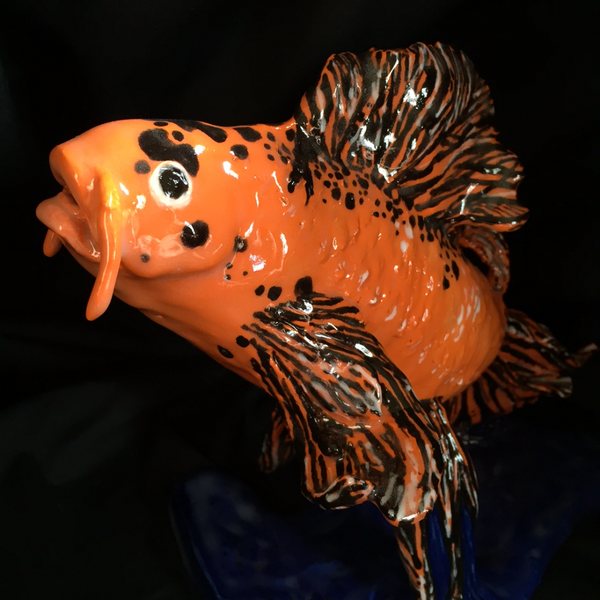 Fish Enthusiasts!-Variety of Fish Sculptures-Koi, Siamese Fighting Fish!