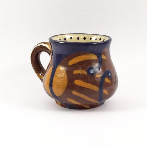 Hand Painted Mug is Smaller on average but adorable and well-crafted!