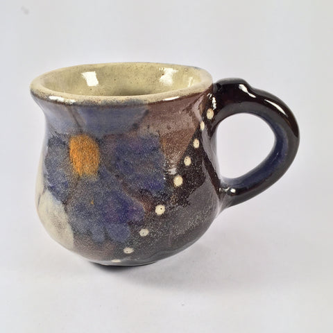 "Artist's Favorite! Unique Painted Mug ""Floral"" is Elegant and Lovely!"