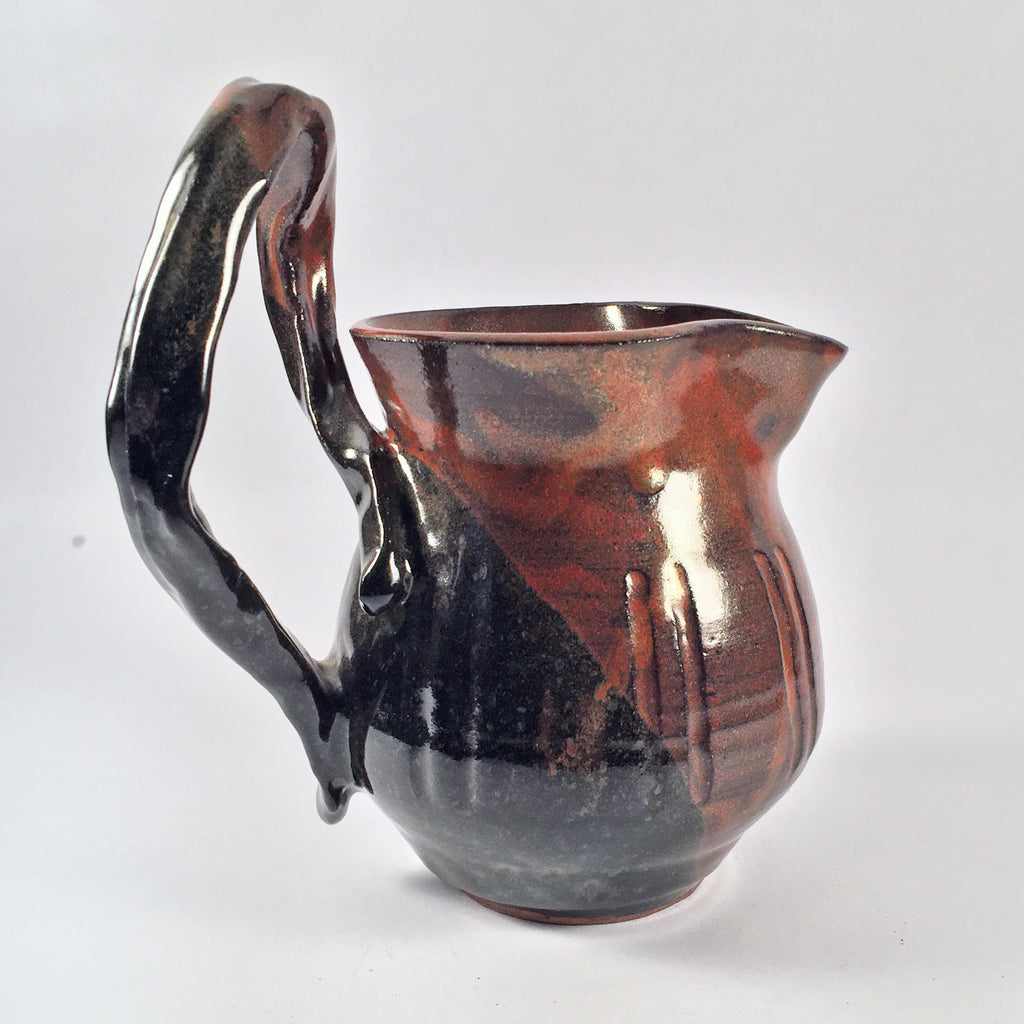 Beautiful and Rustic Glaze Adorns this Charming Ceramic Pitcher! Perfect for Au Jus, Gravy, Sauce.