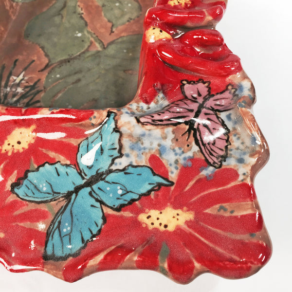 """Butterfly Frenzy"" Rectangular Tray/Unusual & Unique Splash of Colors!"