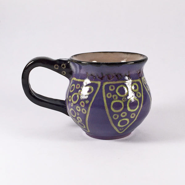 Muddy Brush Pottery Signature Apple Mug-Nestles in Palm of your hand!