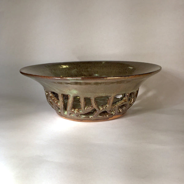 Speckled Stone Carved Bowl