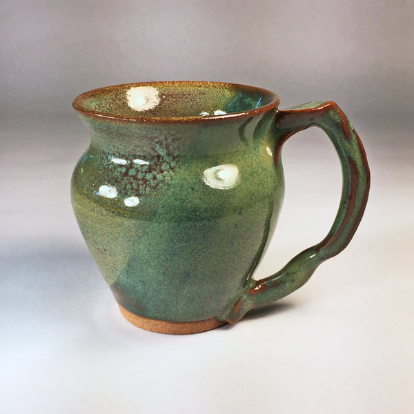Delicate Teacup with Gorgeous Mixed Glaze Effects. Very Glossy!