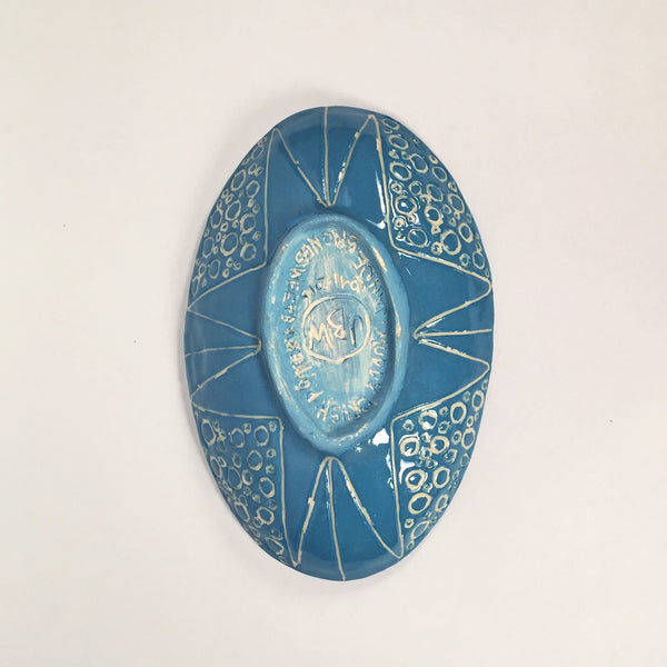 Functional Handmade Dish/Beautiful Sgraffito Design/choice of colors!